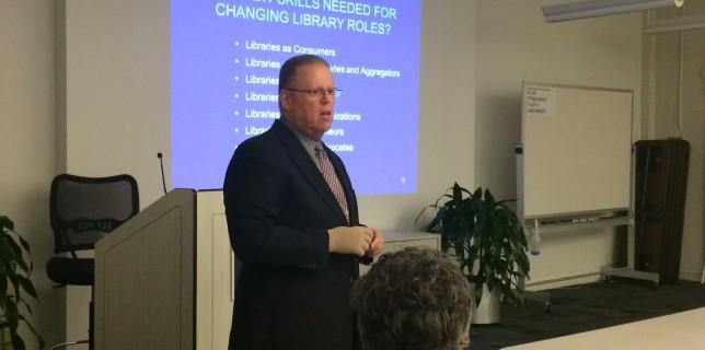 James Neal Presenting at Mid Career Librarianship