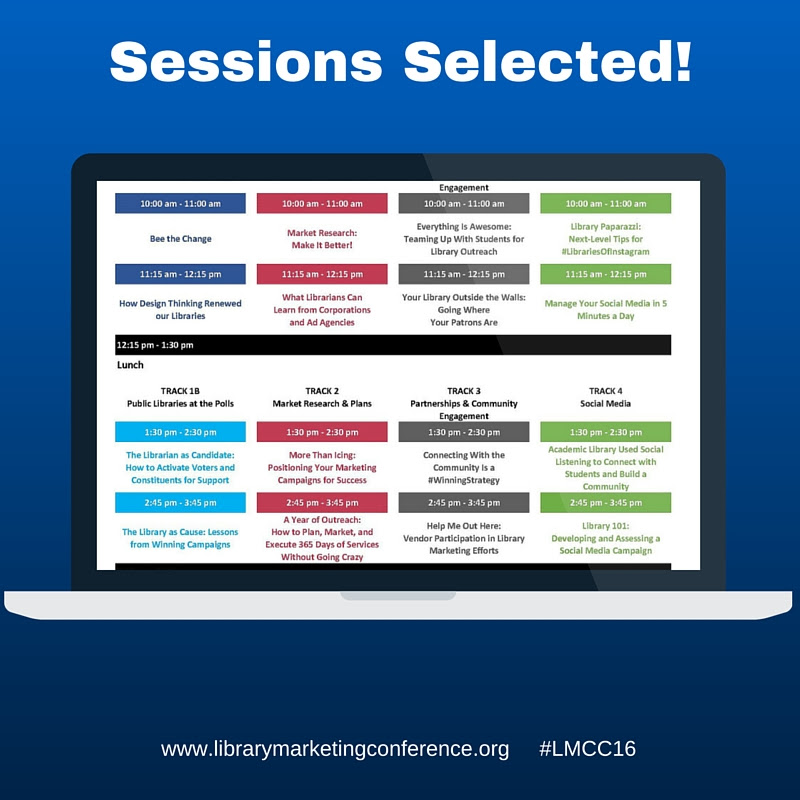 LMCC16 Sessions Screenshot