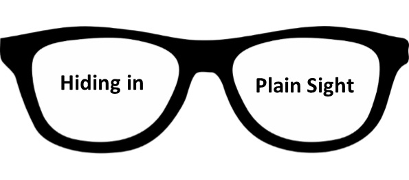 Hiding in Plain Sight Logo: Eyeglasses