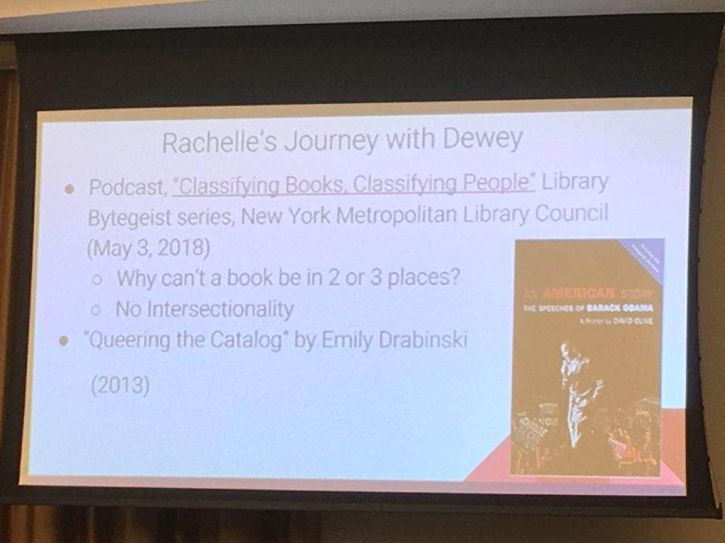 Rachelle's journey with Dewey